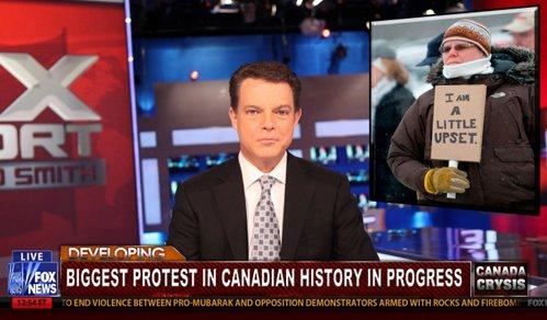 Biggest Canadian Protest