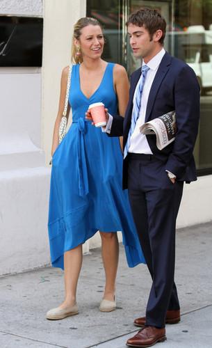Blake - Gossip Girl - Behind the Scenes - July 12, 2012