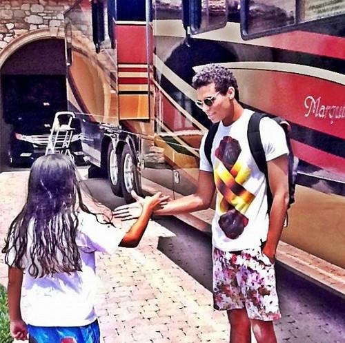 Blanket Jackson and his cousin Randy Jackson Jr ♥♥