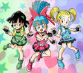 Bra, Marron, Pan - dragon-ball-females fan art