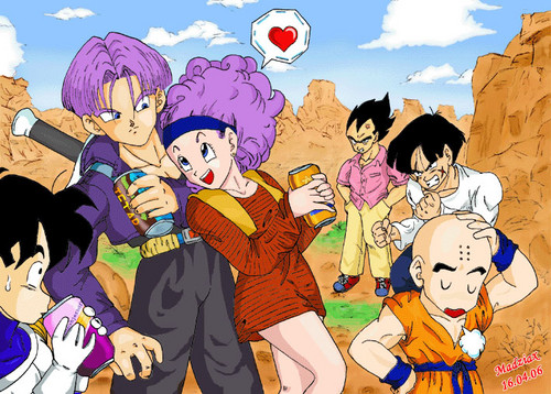 Bulma's flirting with Future Trunks