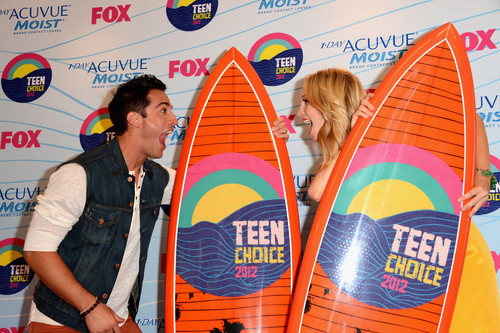Candice & Michael in the TCA Press Room {22/07/12}.