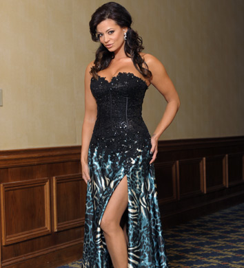Candice Michelle 壁纸 possibly with a 晚餐 dress and a 袍, 礼服 titled Candice Michelle Photoshoot Flashback