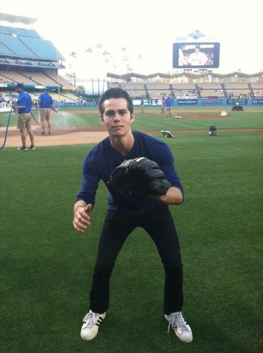 Catching The First Pitch At Dodger's Game - dylan-obrien Photo