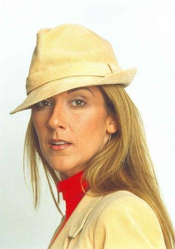 Celine Dion achtergrond with a boater and a fedora called Celine Dion