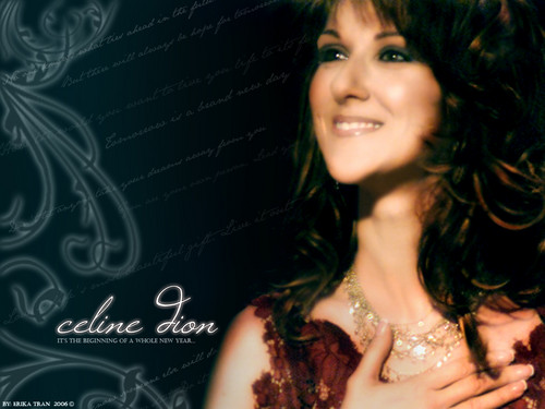 Celine Dion achtergrond probably with a mantilla, a mantelet, and a bridesmaid titled Celine Dion