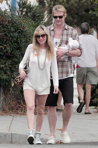 Chris Hemsworth and Elsa Pataky in Los Angeles