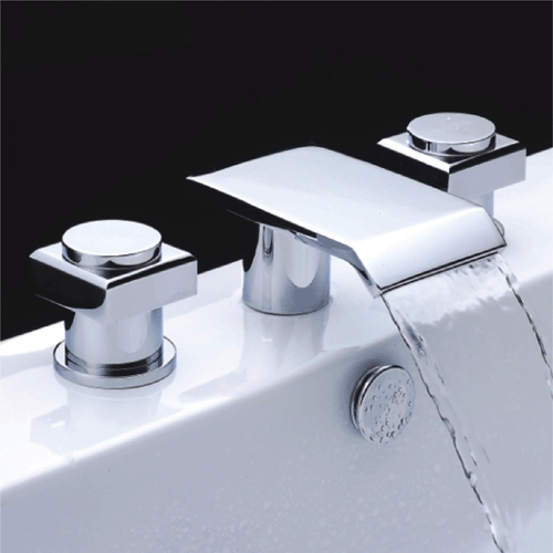 faucets images chrome finish double handle waterfall bathtub faucet wallpaper and background photos - Waterfall Bathroom Faucet