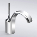 Chrome Finish Waterfall Single Hole Bathroom Sink Faucet