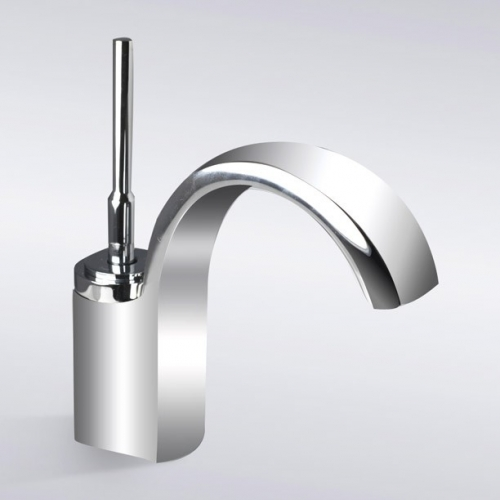 Faucets Images Chrome Finish Waterfall Single Hole Bathroom Sink Faucet Wallpaper And Background