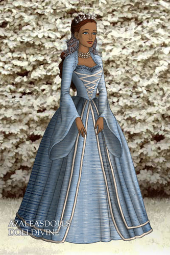 Filem Barbie kertas dinding probably with a polonaise and a hoopskirt called awan Queen Rayla