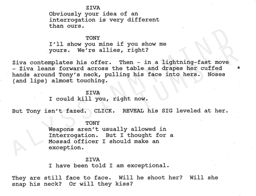 Tiva fondo de pantalla entitled DELETED SCENE SCRIPT FROM EP 200