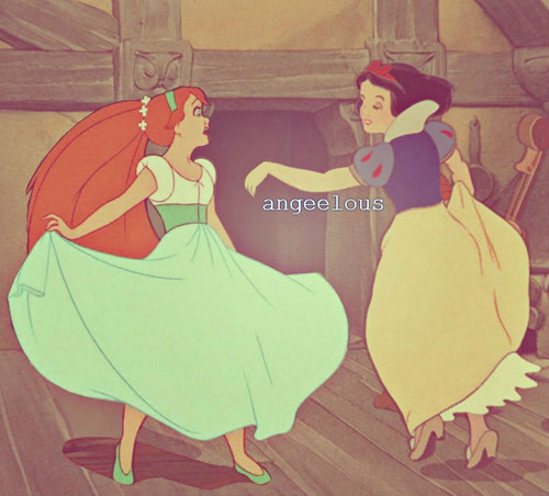 disney crossover wallpaper with anime called Dancing with Thumbelina<3