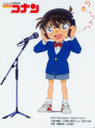 Detective Conan wallpaper possibly with anime titled Conan Try To Sing