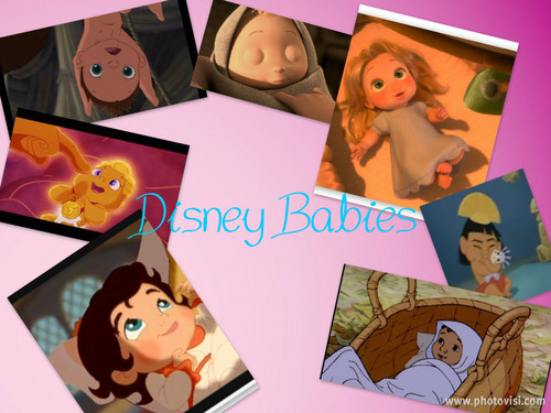 Disney Babies Collage
