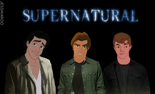 Supernatural wallpaper possibly containing anime entitled Disney Supernatural