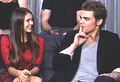 Dobsley - EW interview @ Comic Con 2012 - paul-wesley-and-nina-dobrev photo