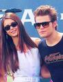 Dobsley - Extra TV at Comic Con 2012 - paul-wesley-and-nina-dobrev photo