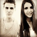 Dobsley at Portrait Comic con 2012 - paul-wesley-and-nina-dobrev photo