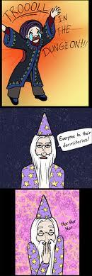 Dumbledore trolls Slytherins