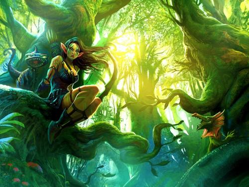 Fantasy wallpaper called Elf