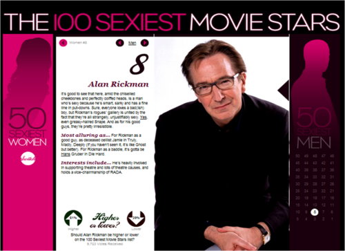 Empire: top, boven 100 sexiest movie stars 2009