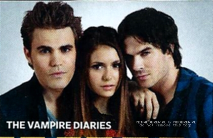 Entertainment Magazine- Comic Con 2012 - ian-somerhalder-and-nina-dobrev Photo