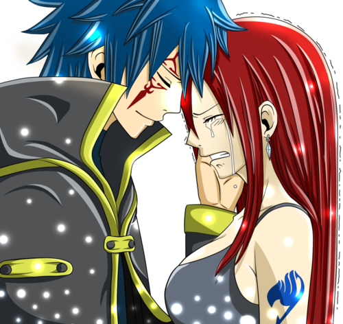Erza Scarlet wallpaper containing anime called Erza ♥ Jellal