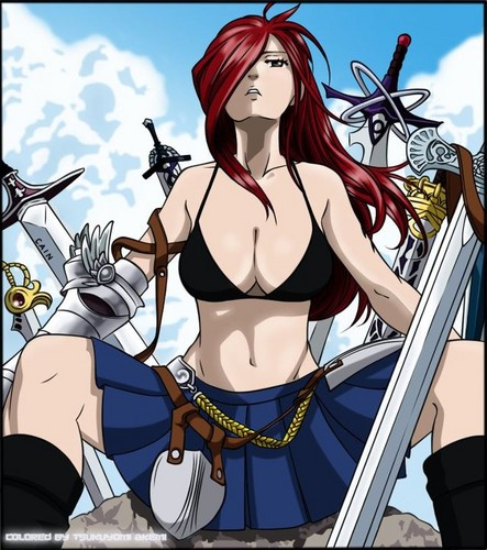 Erza Scarlet wallpaper containing anime titled Erza Scarlet