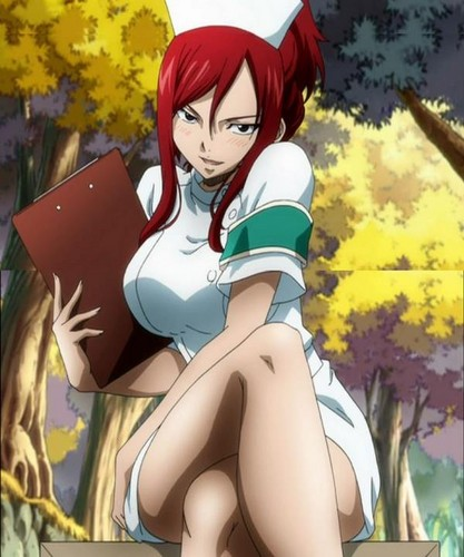 Erza Scarlet 壁纸 possibly containing 日本动漫 entitled Erza Scarlet