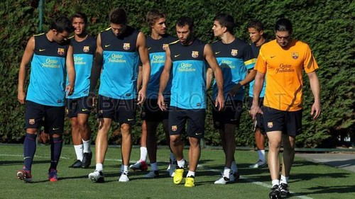 First Training Session under Tito Vilanova