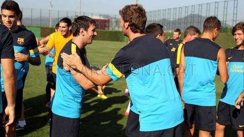 First Training Session under Tito Vilanova