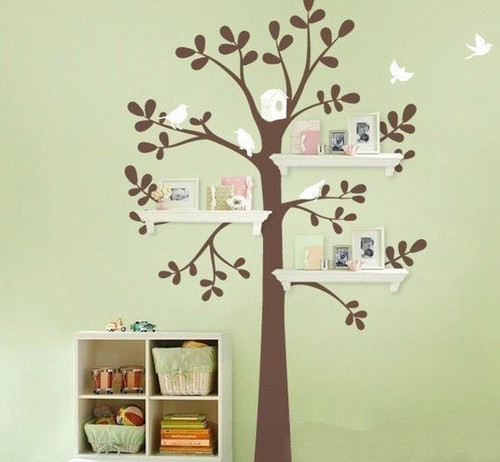 Flying Birds With arbre mur Sticker