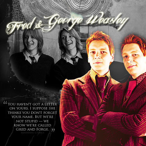 Fread and George Weasley