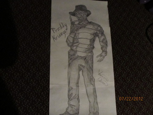 Drawing দেওয়ালপত্র titled Freddy Krueger Drawing