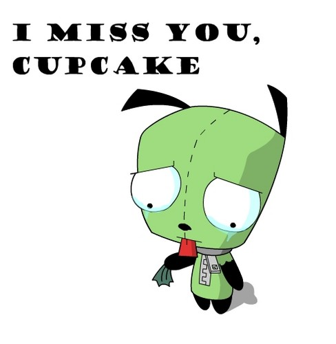 Invader Zim Wallpaper Called GIR I Miss You Cupcake