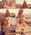 "Game of Thrones MEME— Two Outfits [2/2]Daenerys Targaryen wedding dress, ""Winter is Coming"""