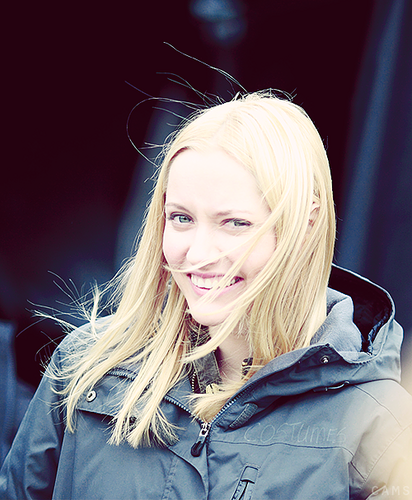 Georgina Haig kertas dinding possibly with an outerwear, an overgarment, and a box kot titled Georgina Haig