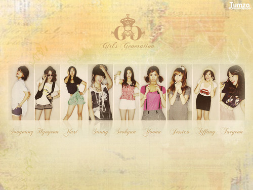 Girls Generation kertas dinding