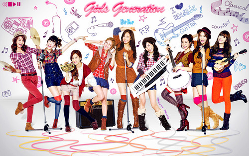 S♥NEISM kertas dinding entitled Girls Generation kertas dinding