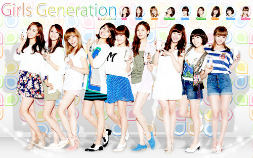 S♥NEISM kertas dinding possibly with a baju renang called Girls Generation kertas dinding