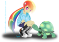 Humanized pelangi, rainbow Dash