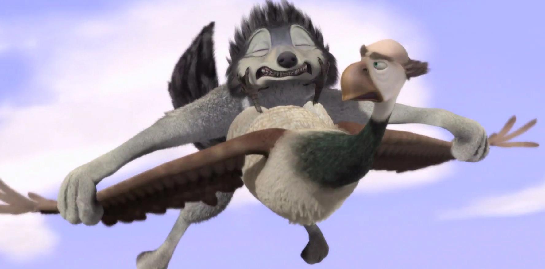 Humphrey: Pleeeeaaaseeee!!!! I want my mommmmyyyy!!!!!! Marcel: Shut up and let me fly