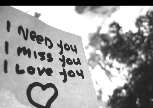 I need you, I miss you, I 爱情 你 :3