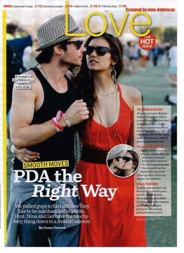 Ian and Nina in Cosmo Magazine