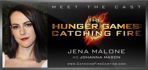 Jena Malone is officially Johanna