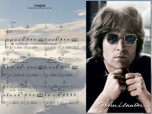 John Lennon 바탕화면 containing sunglasses entitled John Lennon