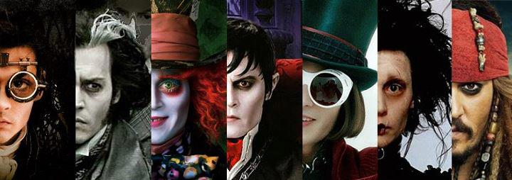 Johnny depp's movie characters johnny's characters