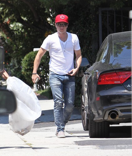Josh leaving a hardware store - July 17th - josh-hutcherson Photo