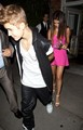 Justin Bieber and Selena Gomez out to dinner